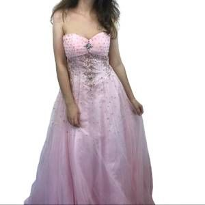 David's Bridal Long Pink Tulle Dress